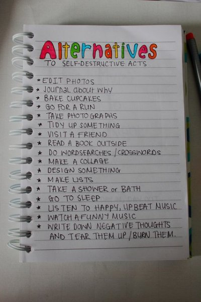 WRITE DOWN NEGATIVE THOUGHTS (I do this…it is VERY helpful)   I would also add…read your Book (Bible, Koran, etc.)