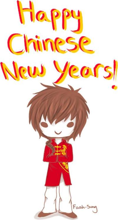 faah-sung:  Happy Chinese New Years, everyone! It's the year of the dragon~ ヽ(´ー`)ノ  Happy chinese new year~