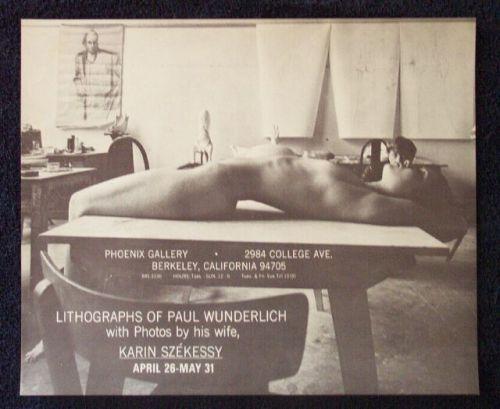Portrait of Paul Wunderlich behind Nude on Table byKarin Székessy, 1960s