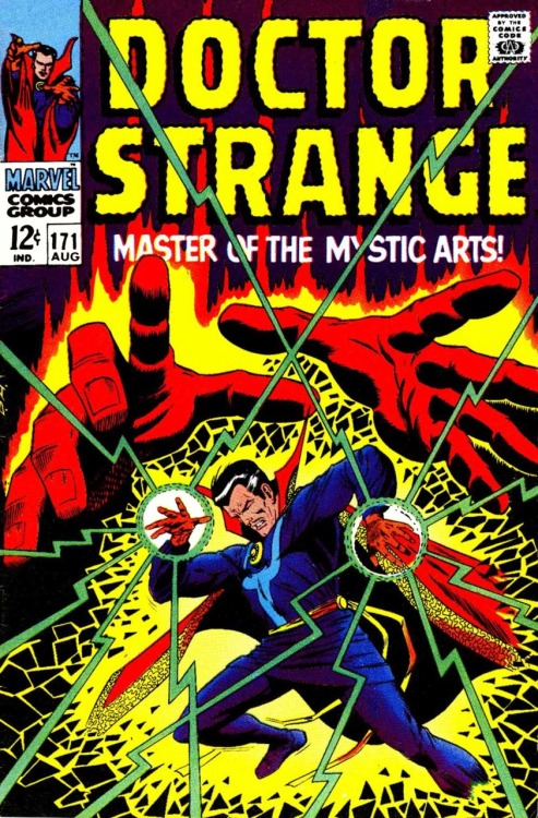 comicbookcovers:  Dr Strange #171, August 1968, cover by Dan Adkins