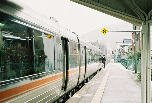 crystalised-stuff:  a departure platform (by chant0m0)  Is this Japan??? I spy Japan!! …excitement :D
