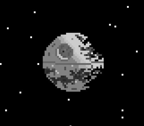 it8bit: That's No Moon (Half Built Death Star) - by PixelThat  via: pixelthat
