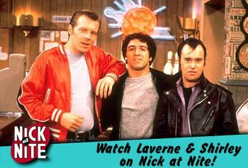 heckyeahlaverneandshirley:  Nick @ Nite ad from the late 90s.