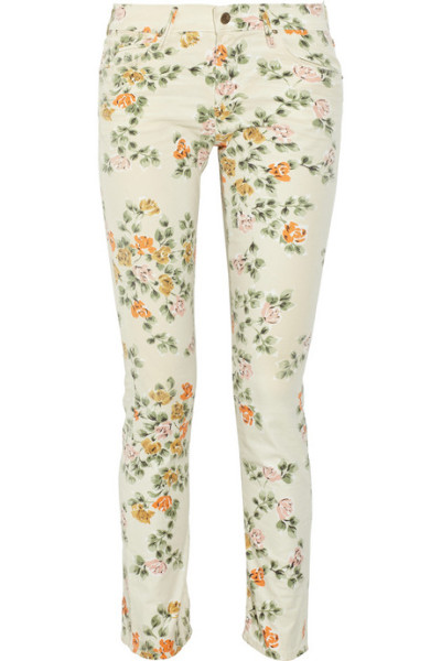 oh damn. i might need these floral jeans! citizens of humanity mandy floral jeans.