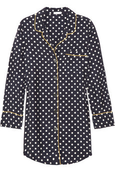 I think I'm in LOVE…   Silk polka dot nightie from J. Crew, by way of Net-a-Porter.