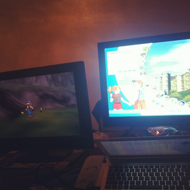 raestanley:  Literally what I've been doing all day. Harvest moon and rollercoaster tycoon.  We're fucking lame.