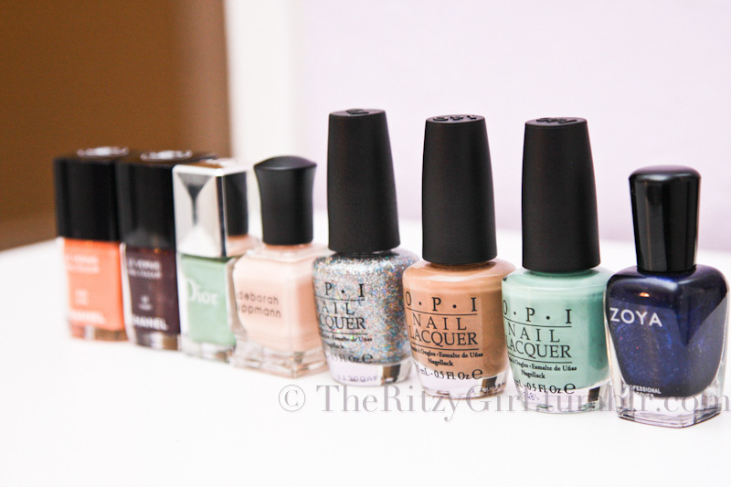 Polishes I've collected in the month of January Taken by Lina @ http://theritzygirl.tumblr.com/