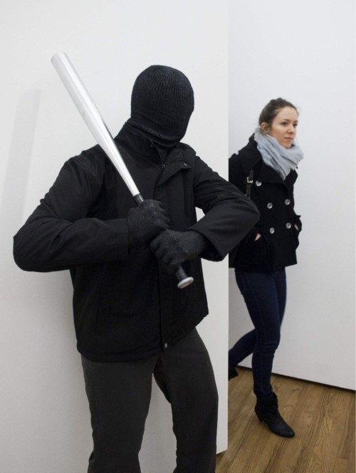 lstplcwnr:  A scupture by Mark Jenkins at the Gestalten Gallery in Berlin src / reddit