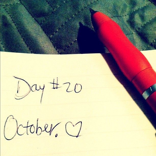 #day #twenty #tumblr- #favorite #month: #october. #birthday #personal #tumblrchallenge #challenge #hand #handwriting #handwritten #writing #written #script #instagram (Taken with instagram)