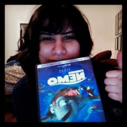Day 023: something old: my nearly 11 year old copy of finding nemo. Decided to watch this while I clean my room and get shit ready for school. (Taken with instagram)