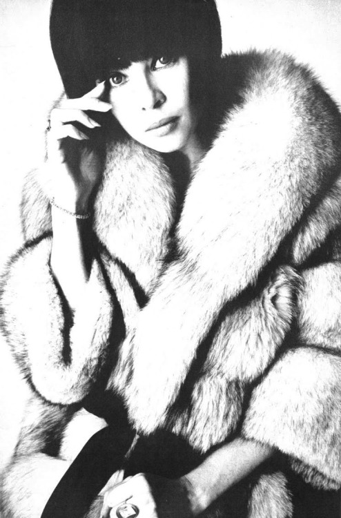 Leslie Caron, 1965 Photo by David Bailey, Vogue UK