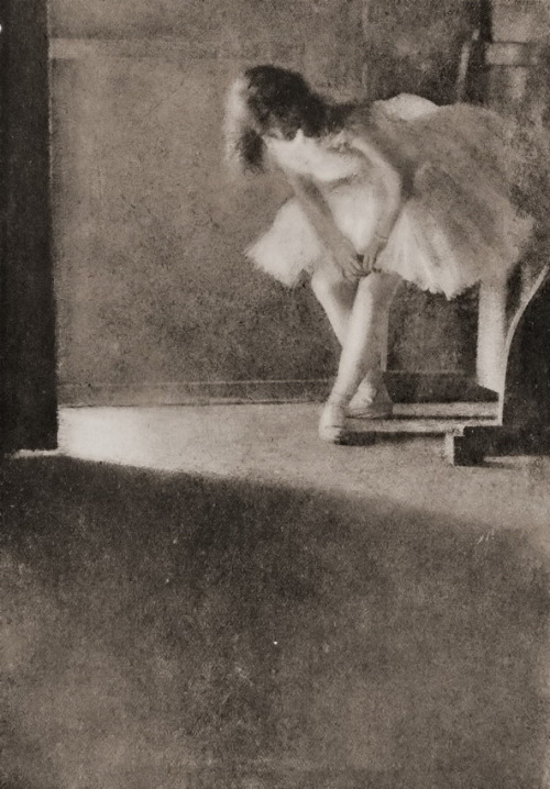 Dancer, behind the scenes. (Oil Pigment Photo, c1909)   Photographer: Robert Demachy, Paris   from servatius