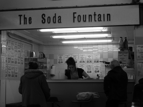 The Soda Fountain. Castle Market, Sheffield, 14/01/2012.