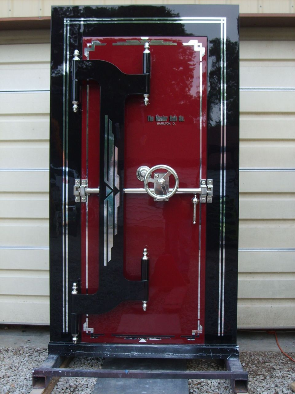Antique Mosler Safe Vault Door