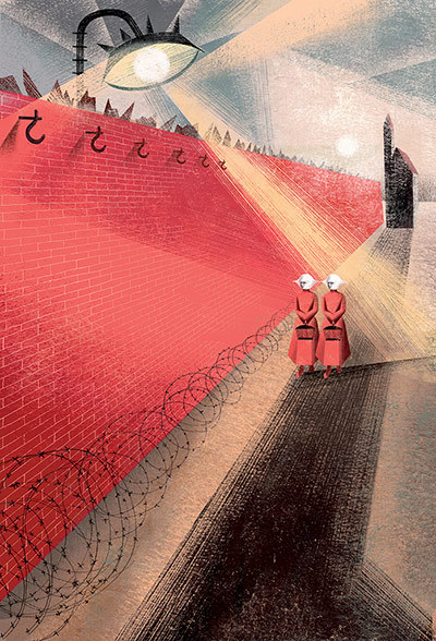 A new Folio Society edition of Atwood's landmark dystopian novel is accompanied by striking illustrations from Anna and Elena Balbusso.  via The Guardian