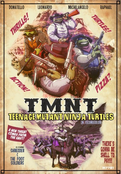timetravelandrocketpoweredapes:  TMNT: Western by Marco d'Alfonso Artist: deviantart / tumblr / blog / website