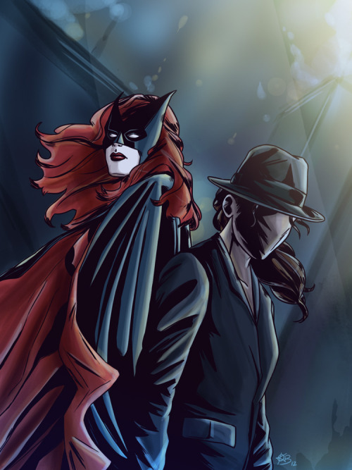 thesidekickcomplex:  Batwoman and The Question by Krystal Beisick