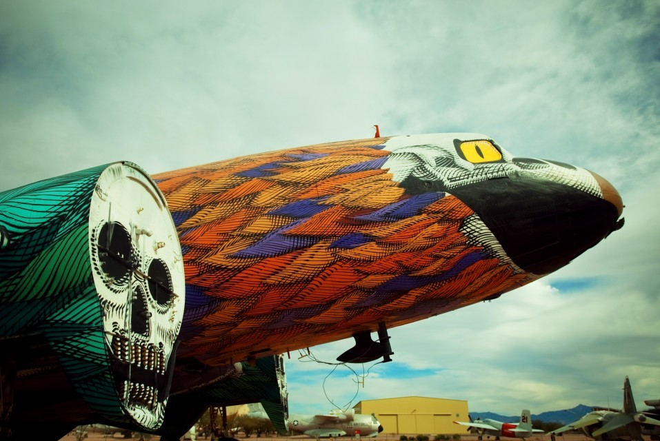 "swagg-cabinet:  Eric Firesone ""the boneyard project: return trip""pima air and space museum, tucson, arizona, USA"