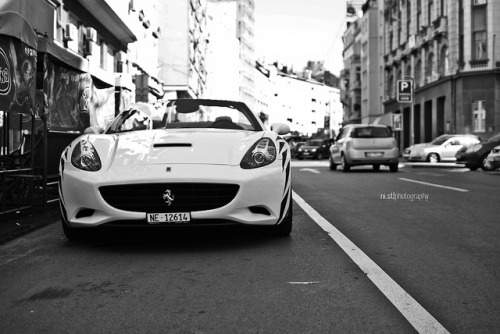 Black and White California on Flickr.Via Flickr: Ferrari California Combo in Belgrade, Serbia 2011 © All Rights Reserved by Stojanovic Nikola. Nikon D3000  Sigma 30mm F1.4 DC HSM Comment and fave if you like it :)Do not use this photo without my written permission.