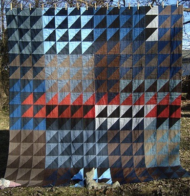 Tents of Armageddon Quilt by Thriftomancer, an original design on her blog.