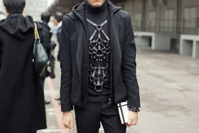 【STREET STYLE: LEATHER BODY HARNESS】 STOCKHOLMSTREETSTYLE 详情