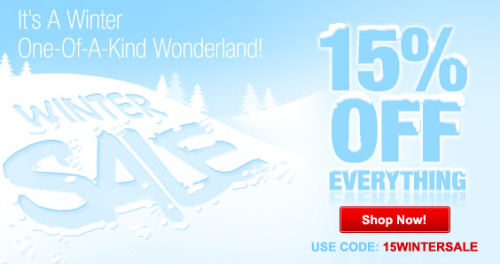 It's a winter One-Of-A-Kind Wonderland @Zazzle 15% OFF EVERYTHING. Use code: 15WINTERSALE http://www.zazzle.com/detourdesignables