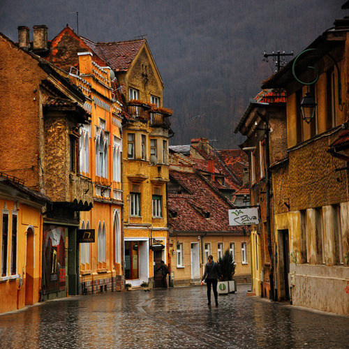 Ancient Street, Brasov, Romania photo via squidlysue