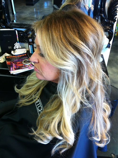 Taking your #blonde hair #ombre is a great transition if you are interested in going darker without the full blown commitment!