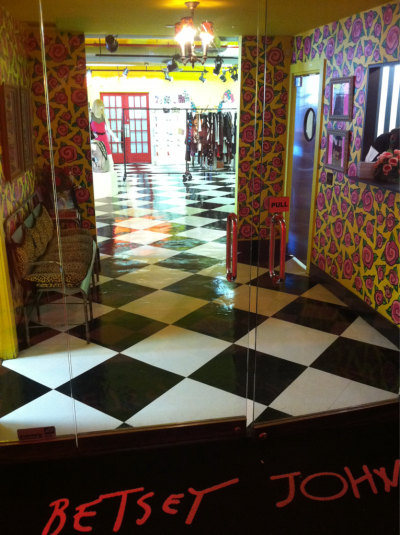 bjtwittermachine:  Entrance to Betsey heaven aka the showroom!
