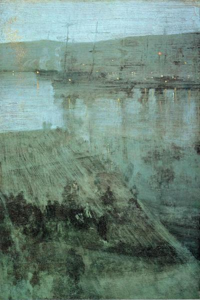 earlyfrost:  Nocturne in Blue and Gold: Valparaiso Bay, 1866, James Abbott McNeill Whistler