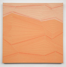 Holly Miller Snap #20, 2009 acrylic and thread on canvas 24 X 24 inches