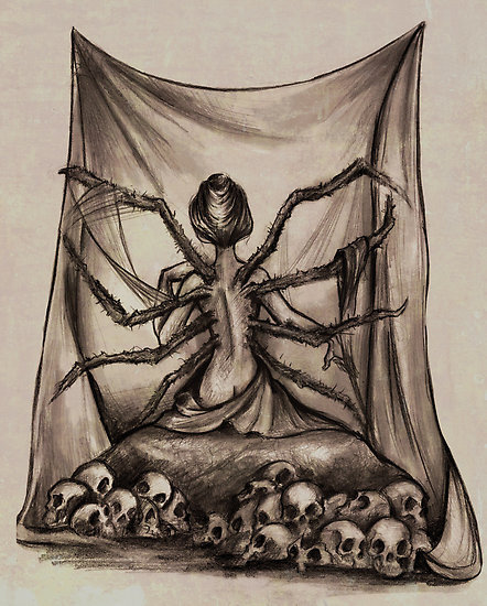 "Print now available, ""The Weaver"" by ratgirlstudios 