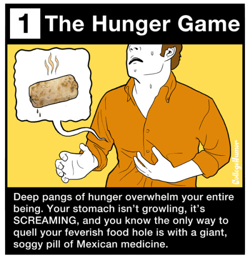 collegehumor:  The 7 Stages of Eating a Burrito [click to continue]    Had to reblog. It's just written with such articulation! More than needed for such a topic, but that's what makes it amazing!