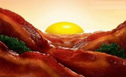 collegehumor:   Bacon and Egg Sunrise   The best part about these is, if you find the right deli, it can happen after noon.