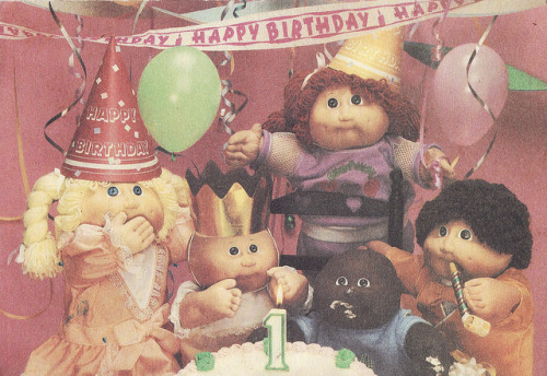 Cabbage Patch Kids birthday card, 1985