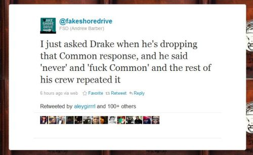 Drake says he won't respond back to Common http://www.urbangatsby.com