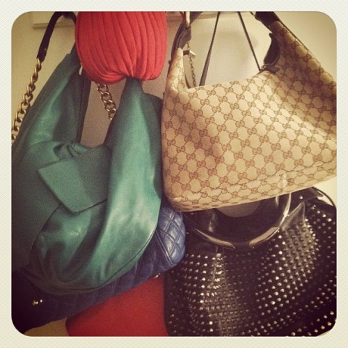 Some bags #fashion #bags #marcjacobs #burberry #valentino #burberry  (Taken with instagram)