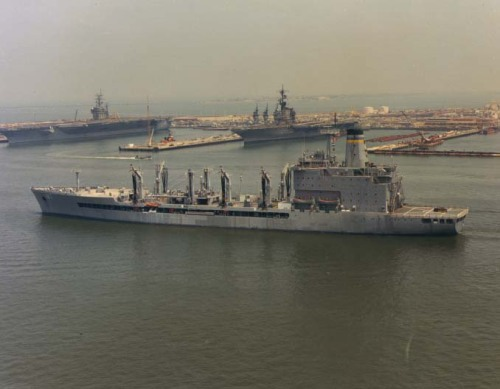USNS Henry J. Kaiser  • Length: 677 feet, 6 inches• Beam: 97 feet, 6 inches• Draft: 35 feet• Displacement: 42,763 long tons• Speed: 20.0 knots• Government-Owned/Chartered:Government-owned
