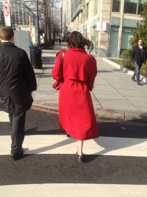 I've found Carmen Sandiego!  K St NW at 17th.