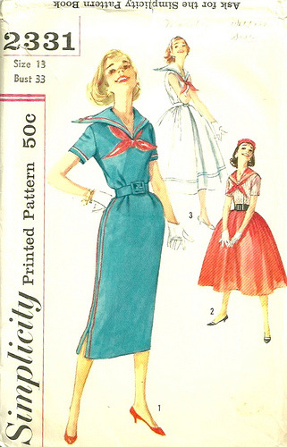 Simplicity 2331 Dress with Sailor Collar (by patterngate)