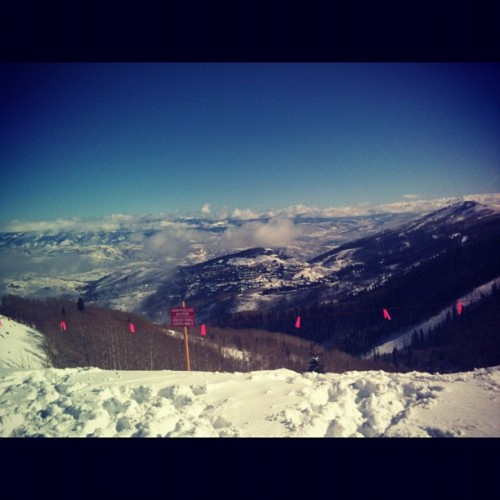 wilsyl:Live from the top of some mountain in Park City UT! (Taken with instagram)