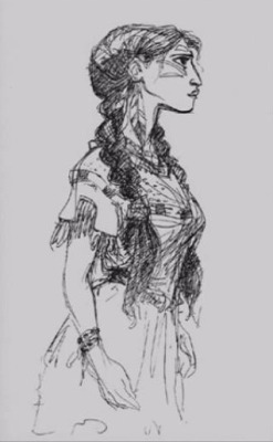 scurviesdisneyblog:  Early Pocahontas Concept Sketch