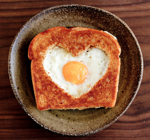 For Valentine's Day Morning! Eggs in a Basket!