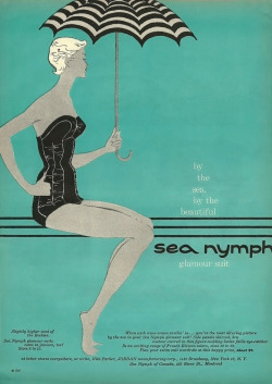 Dose of vintage: Vintage swimsuit ad, c. 1950's.