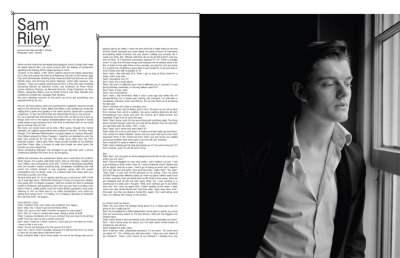 2007 | BLAG Vol.2 No 9 Sam Riley Interview by Peter Hook and Sally Photography by Sarah