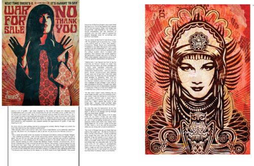 2007 | BLAG Vol.2 Nø 9 Shepherd Fairey Interview by Sarah Art by Shepherd Fairey