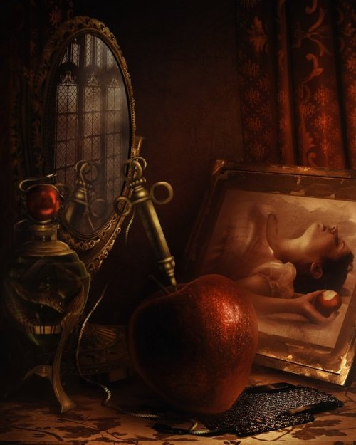 "fairytalemood:  ""Still Life for Snow White"" by Lilia Osipova"