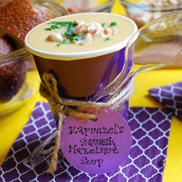 Rapunzel's Squash and Hazelnut Soup recipe from Disney.