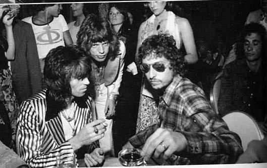 Bob Dylan, Mick Jagger & Keith Richards