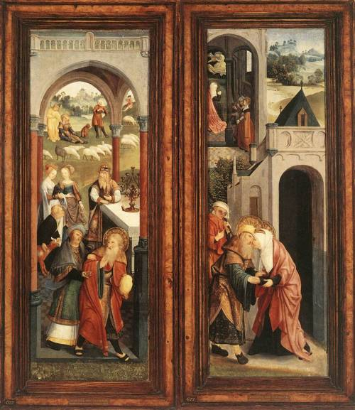 speciesbarocus:  Master of Alkmaar - Scenes from the Life of Joachim and Anna (c. 1500).